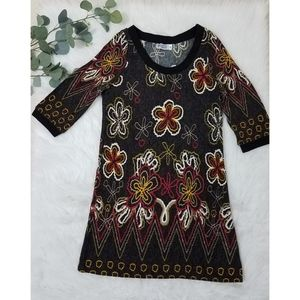 FUNKY PEOPLE Retro Flower Dress Medium